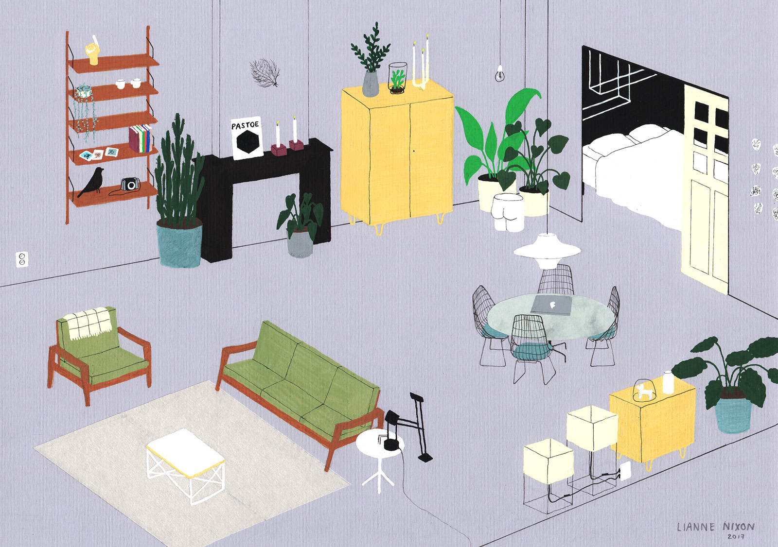 interior design illustrato di Lianne Nixon | Collater.al 6