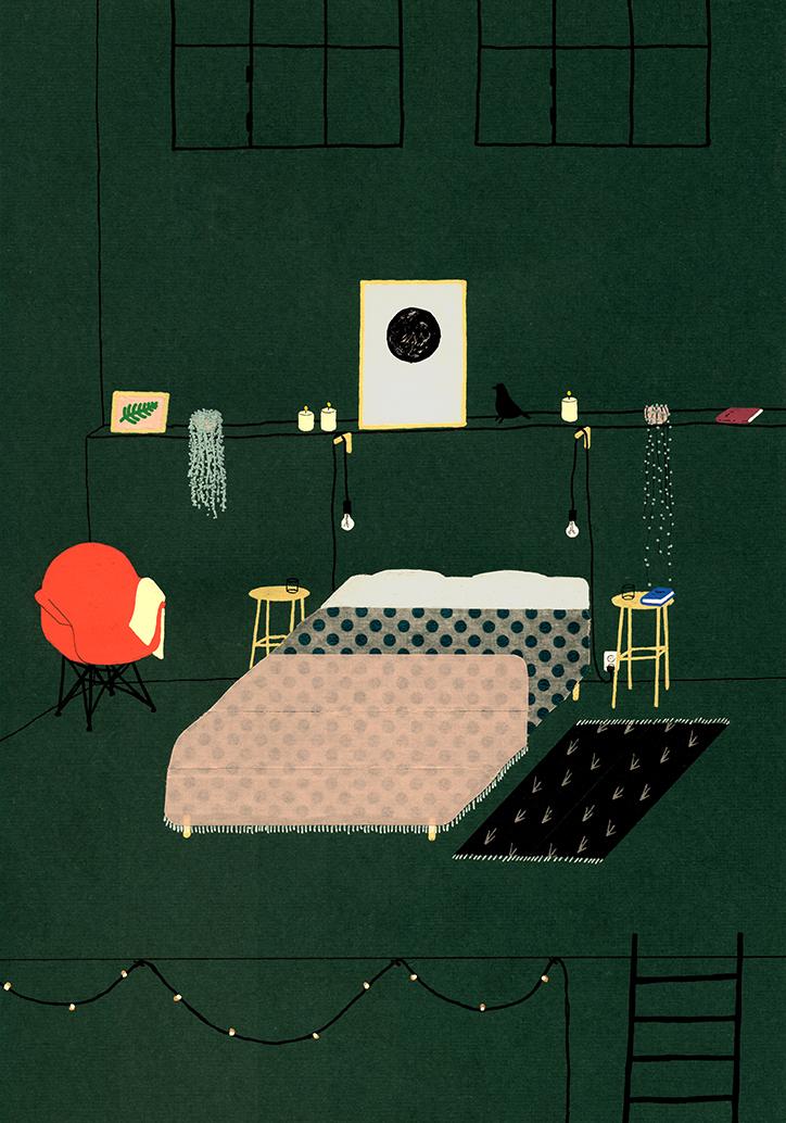 interior design illustrato di Lianne Nixon | Collater.al 9
