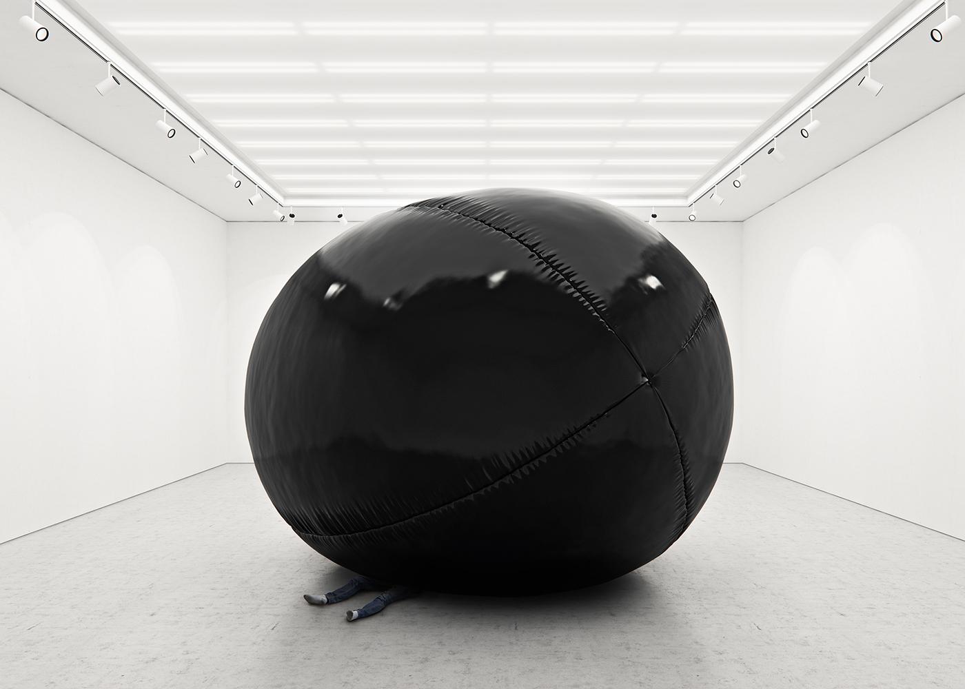 Black Balloons, equilibrio ipnotico delle installazioni di Tadao Cern | Collater.al 6