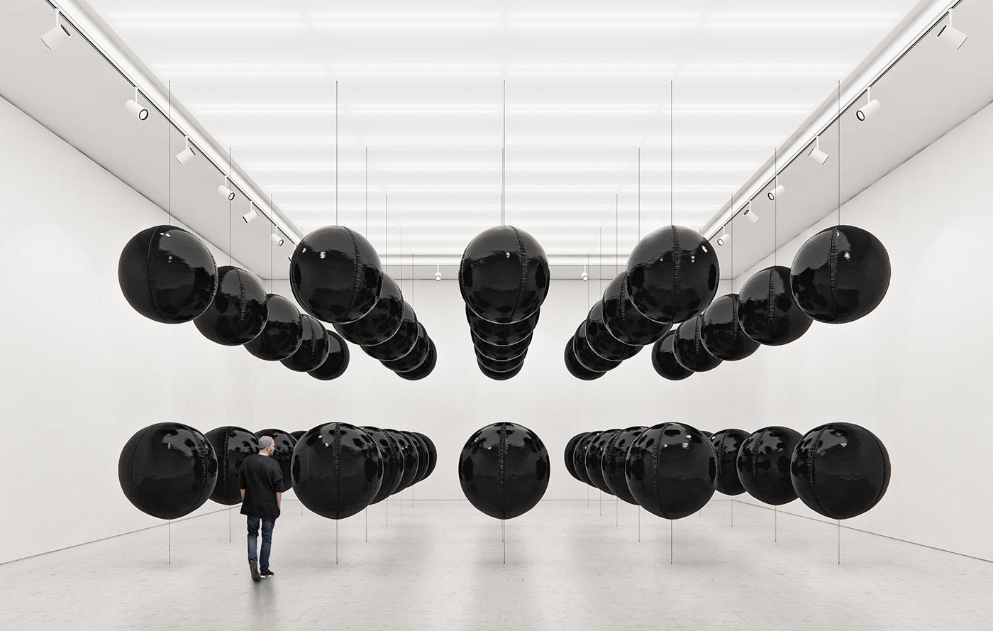 Black Balloons, equilibrio ipnotico delle installazioni di Tadao Cern | Collater.al