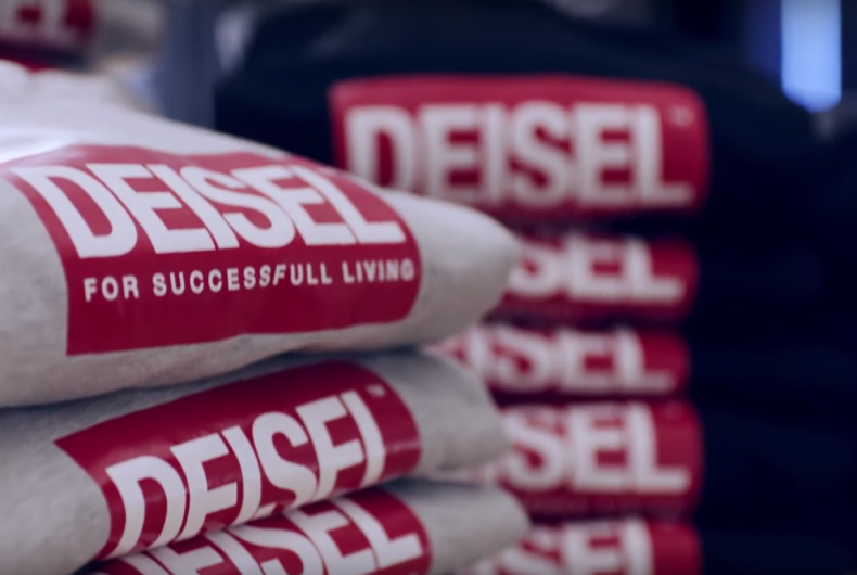 Diesel is selling Deisel, the fake logo of its own brand