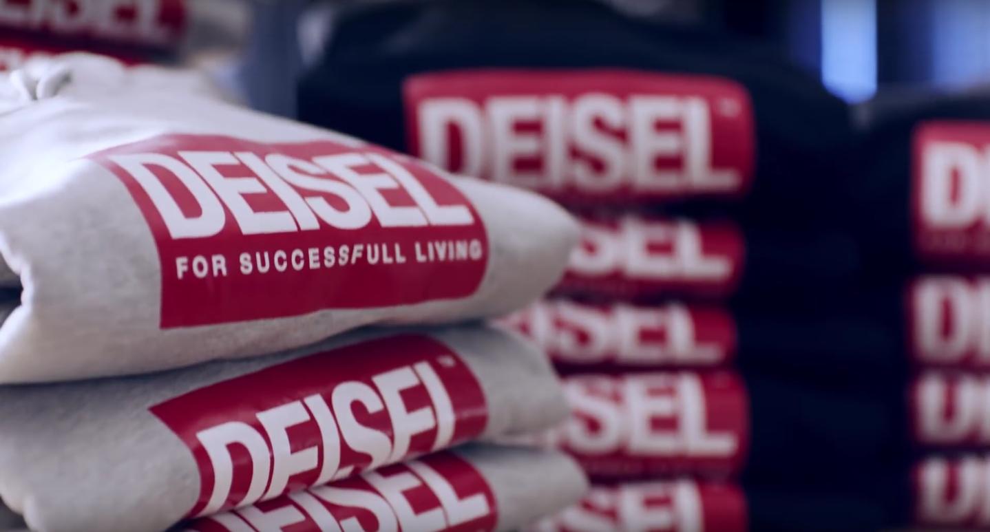 Diesel lancia Deisel, il falso logo del suo stesso brand | Collater.al 2