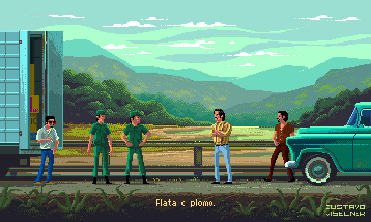 Gustavo Viselner ha ricreato i piu iconici TV-Show in 8-bit | Collater.al 11