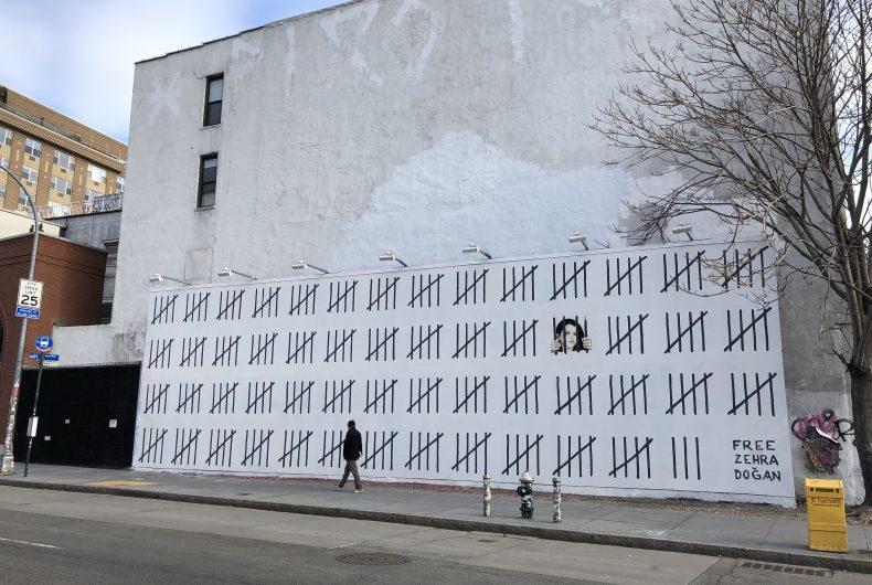 Free Zehra, Banksy's new mural against Turkish censorship