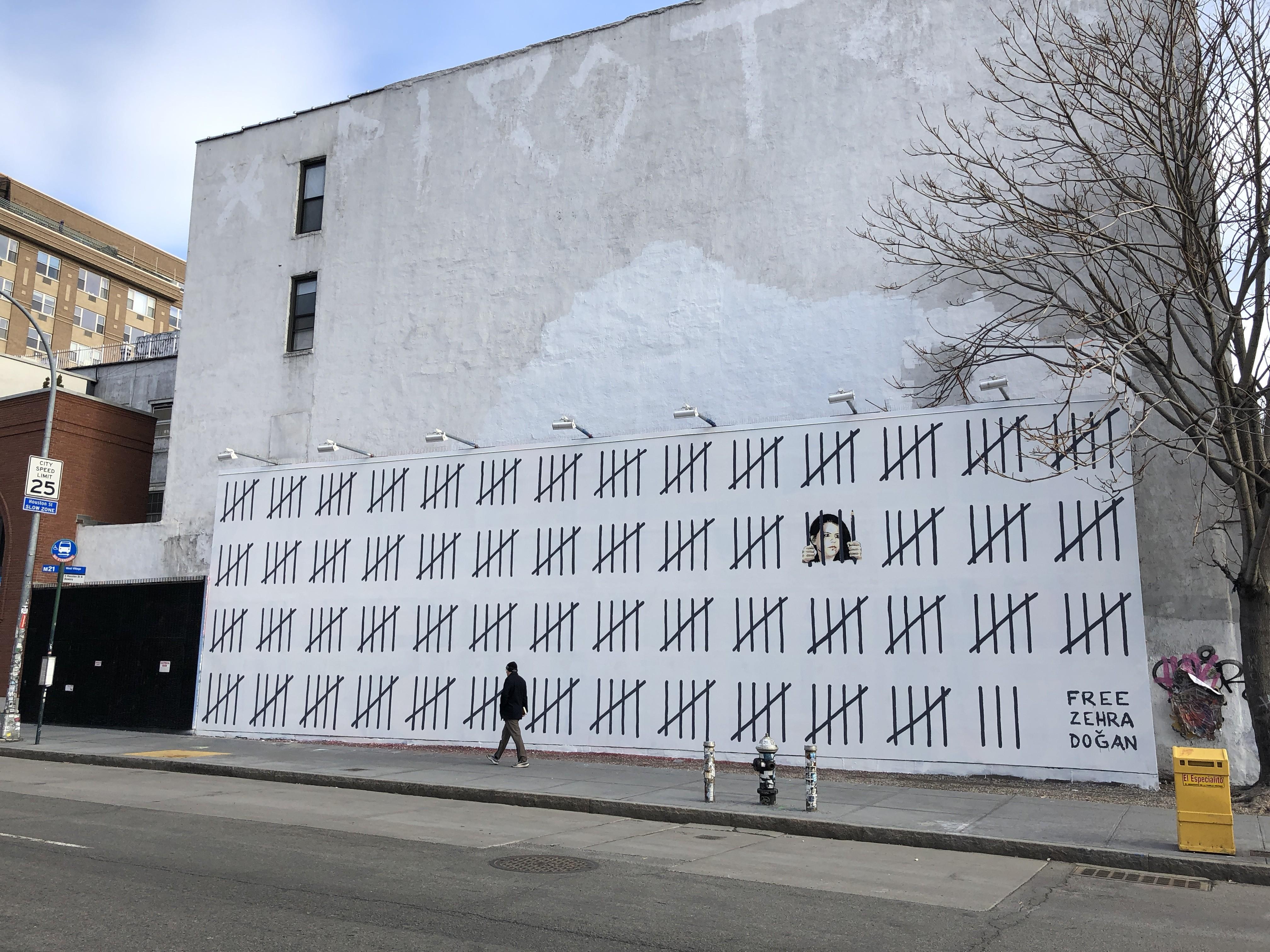 Free Zehra, il nuovo murales di Banksy contro la censura turca | Collater.al 4