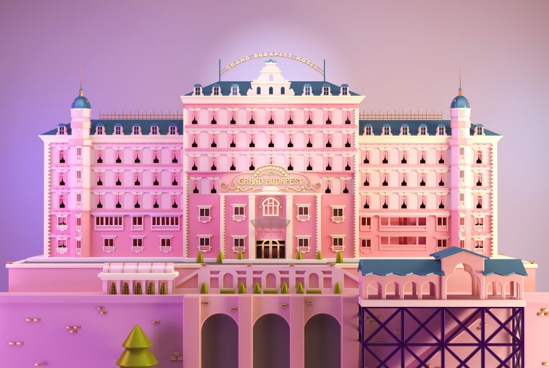 The illustrated tribute to Wes Anderson of Santiago Moriv