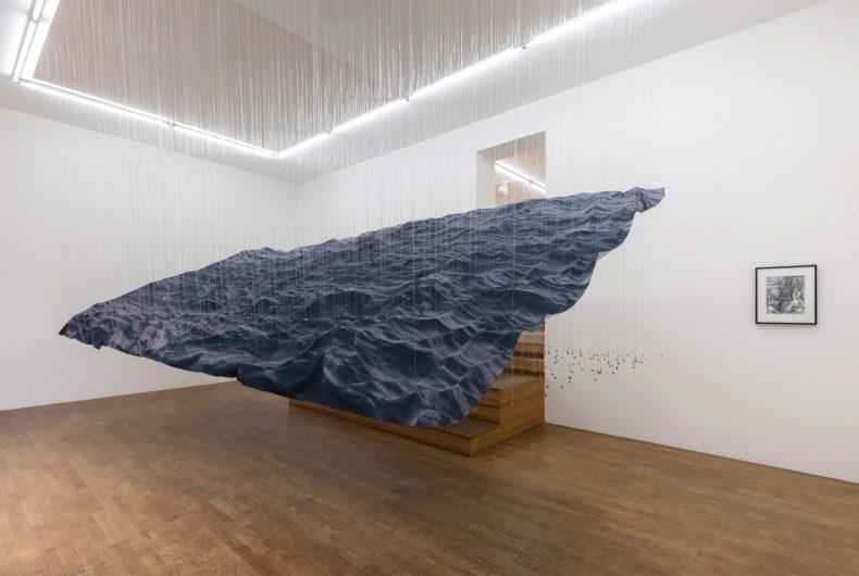 Miguel Rothschild's suspended ocean waves