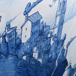 Perspentico, il grande gatto blu dello street artist Liqen | Collater.al 1