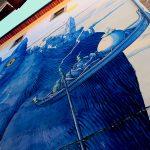 Perspentico, il grande gatto blu dello street artist Liqen | Collater.al 5