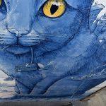 Perspentico, il grande gatto blu dello street artist Liqen | Collater.al 7