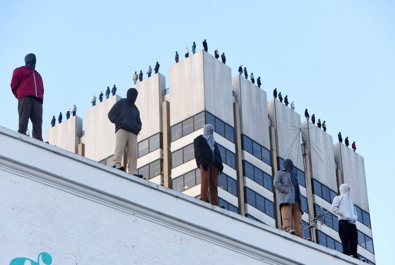 Project84, Mark Jenkins' moving installation against male suicide