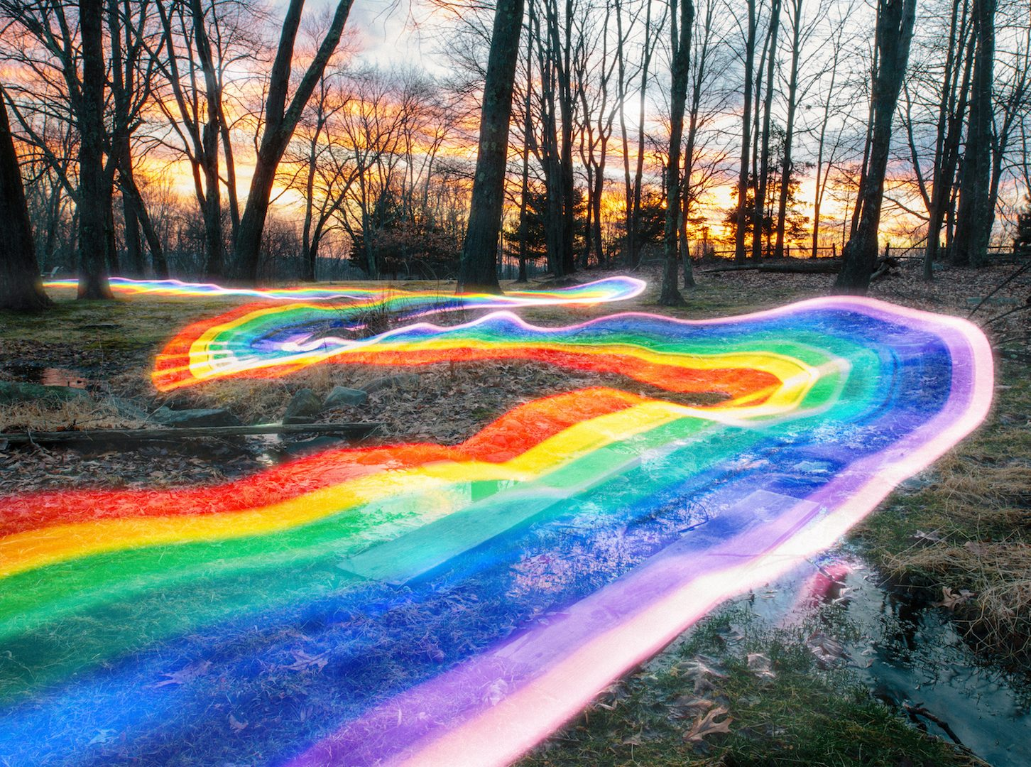 Rainbow Roads, Daniel Mercadante and his trails of rainbow