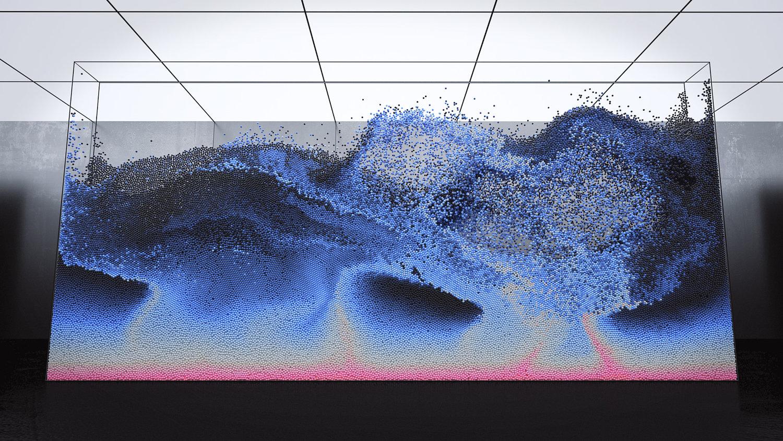 Volumes, il balletto ipnotico delle particelle di Maxim Zhestkov | Collater.al 8
