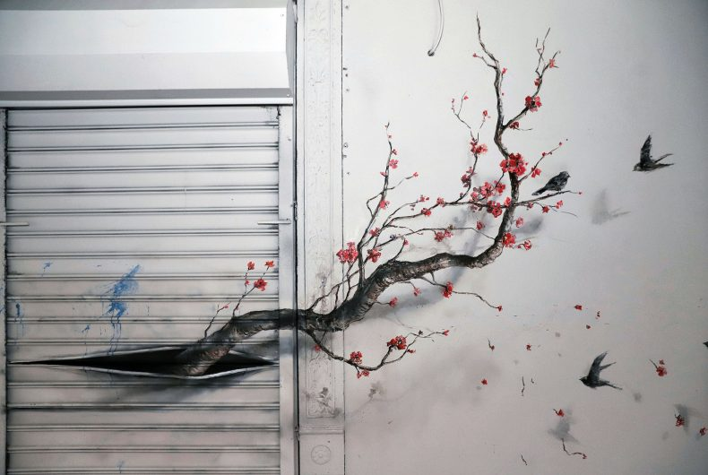 The fate of urban nature on the New York works of Pejac
