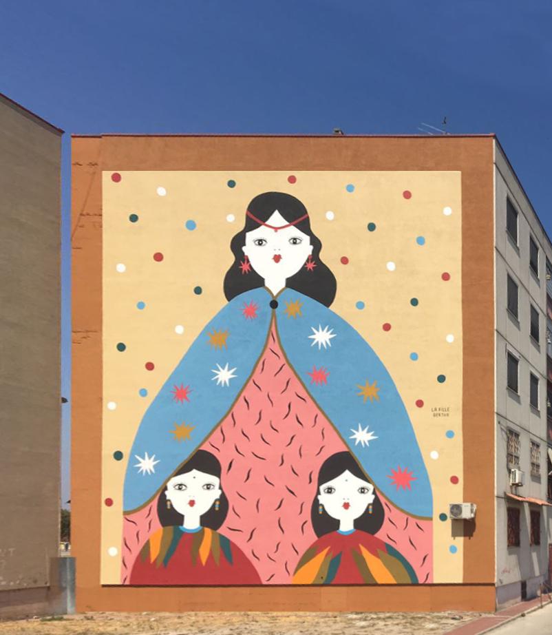 La Street Art colora la periferia di Napoli con il Parco dei Murales | Collater.al La Fille B