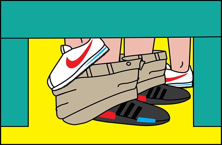 SneakerSutra, Andrea Locci's illustrations about sneaker and sex