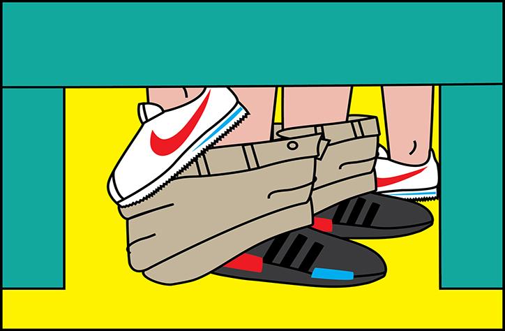 SneakerSutra, le illustrazioni di Andrea Locci che mixano sneaker e sesso