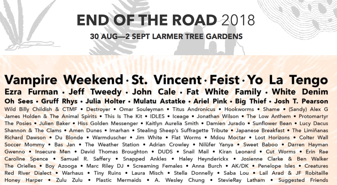 Festival estate breve guida | Collater.al end of the road