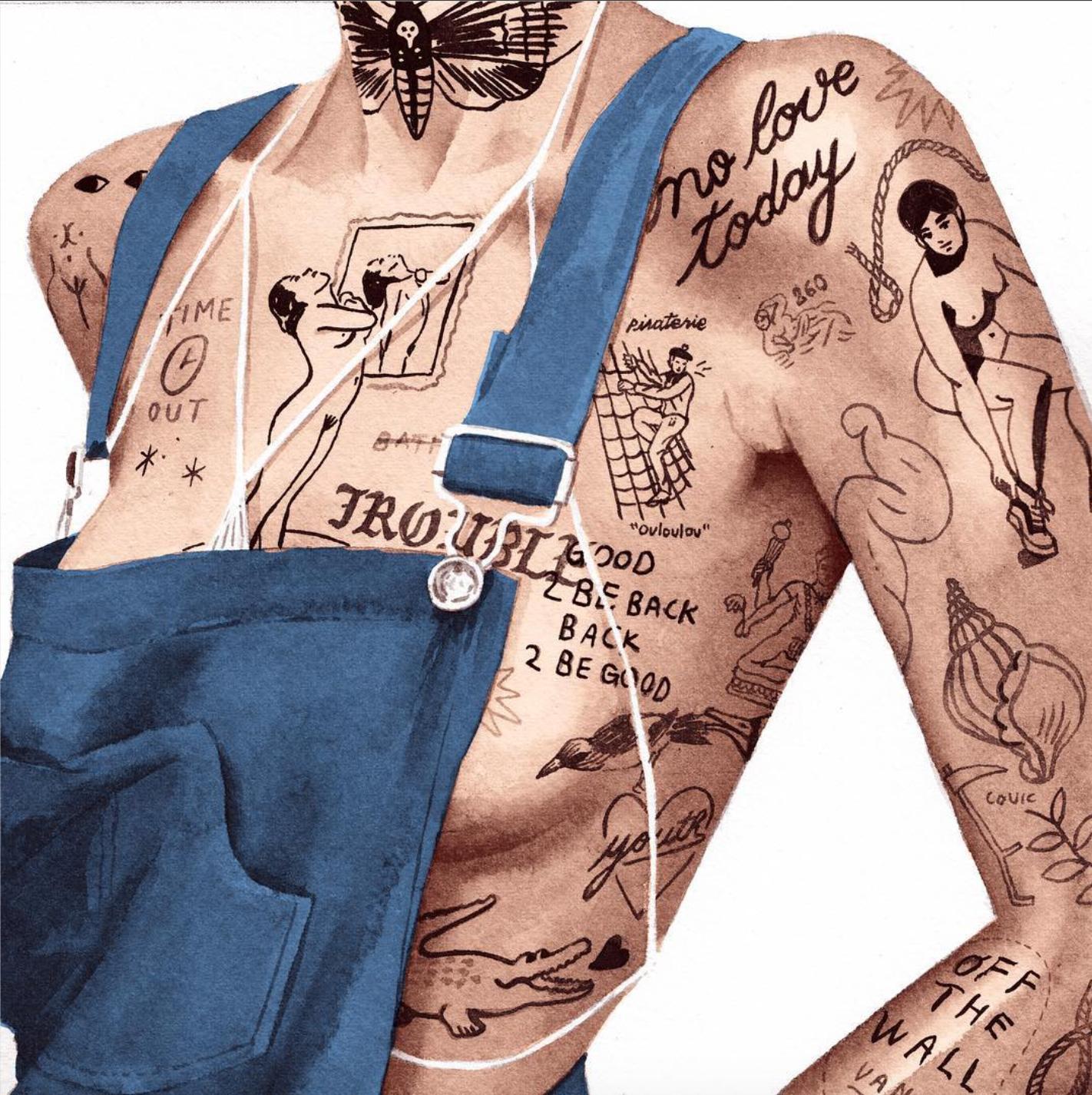 I corpi tatuati NSFW Jean Andre | Collater.al 3
