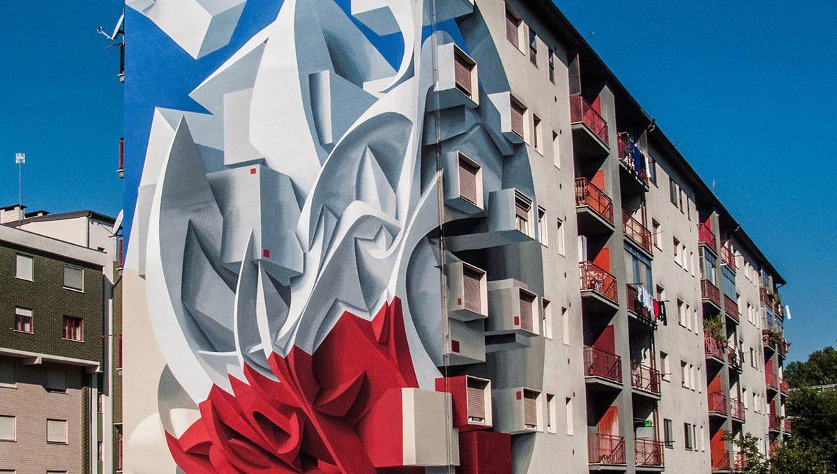 I nuovi murales tridimensionali di Peeta