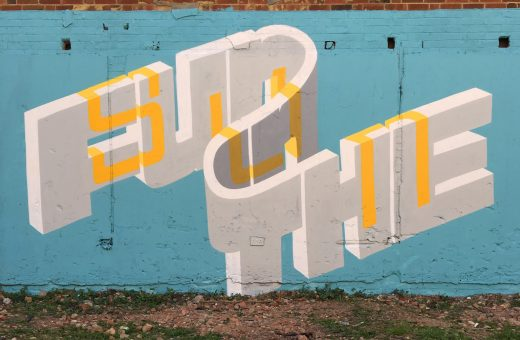 The 3D lettering by street artist Pref