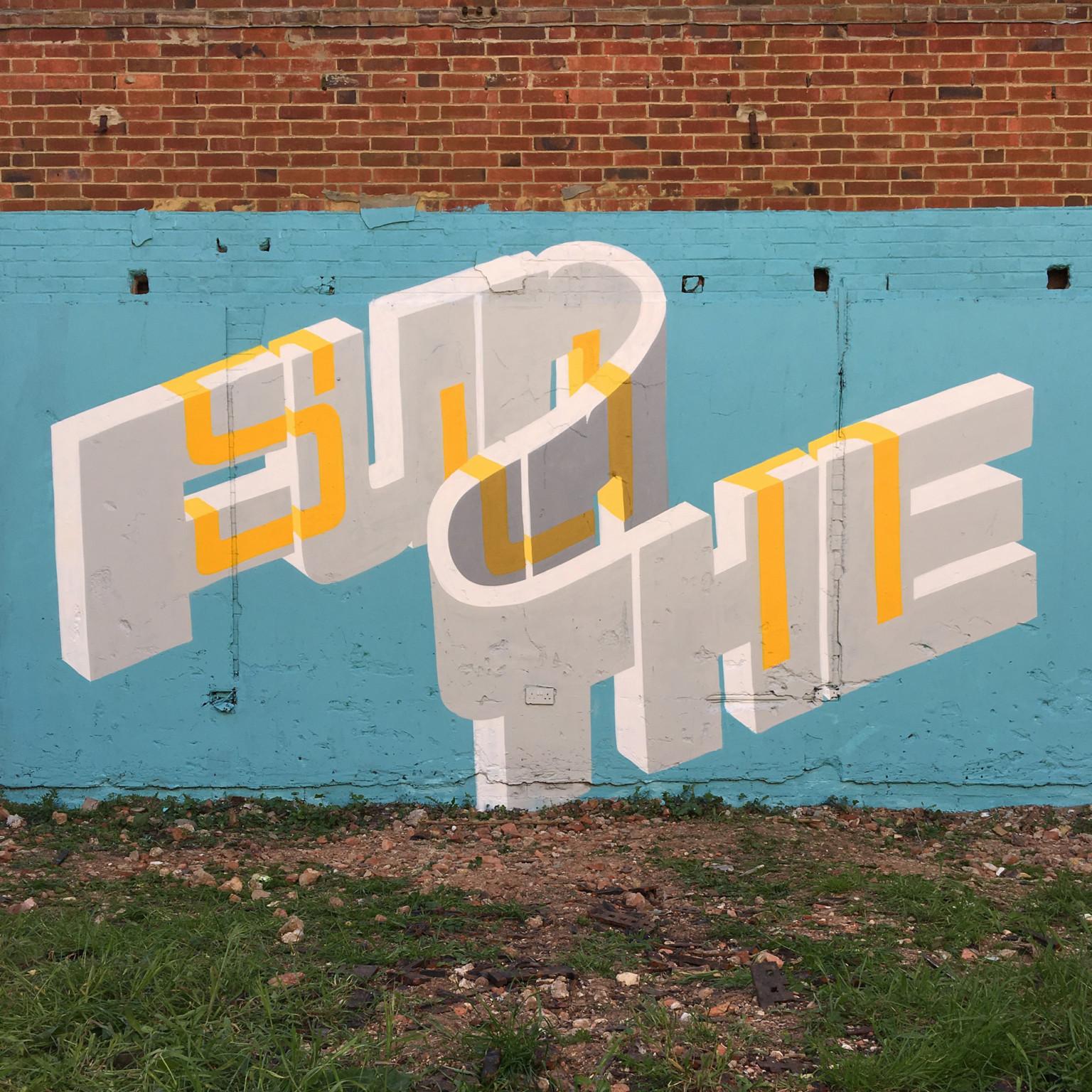 Il lettering 3D dello street artist Pref | Collater.al 2