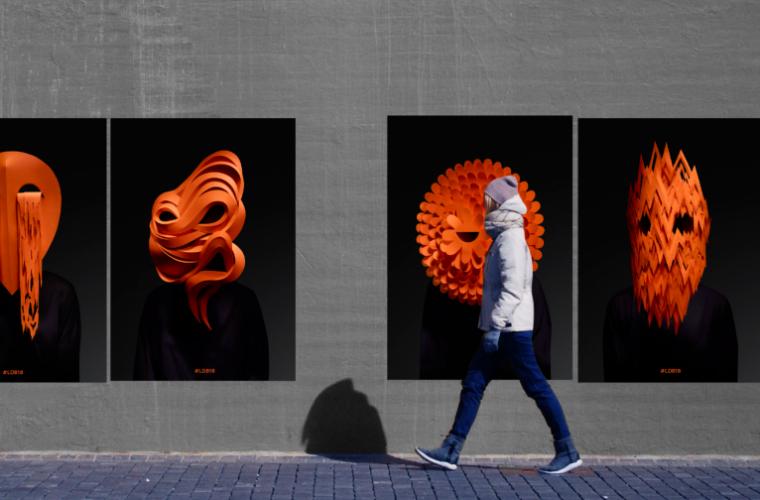 Le maschere di Andy Singleton che rappresentano gli stati emotivi