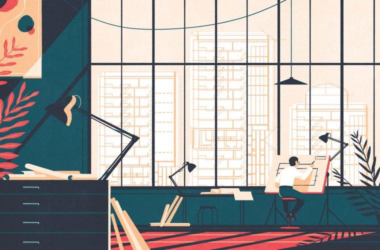 Le illustrazioni essenziali ed eleganti di Tom Haugomat