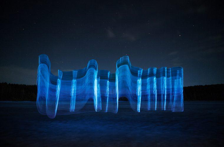 Gone Fishing, Andrius Labasauskas' light sculptures