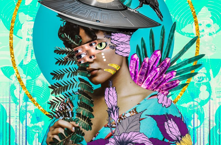 The fluorescent and psychedelic collages by Kaylan M.