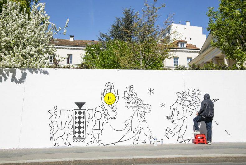 Il nuovo murale di Honet a Parigi