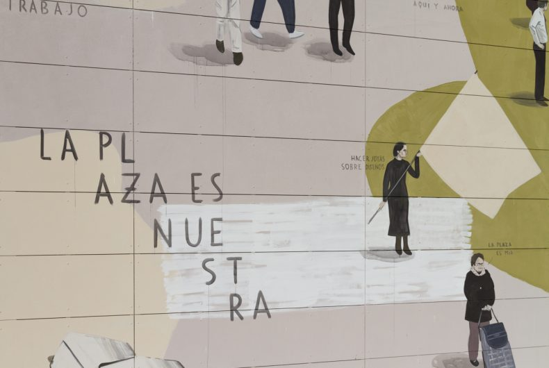 La Plaza es Nuestra, Escif's new mural