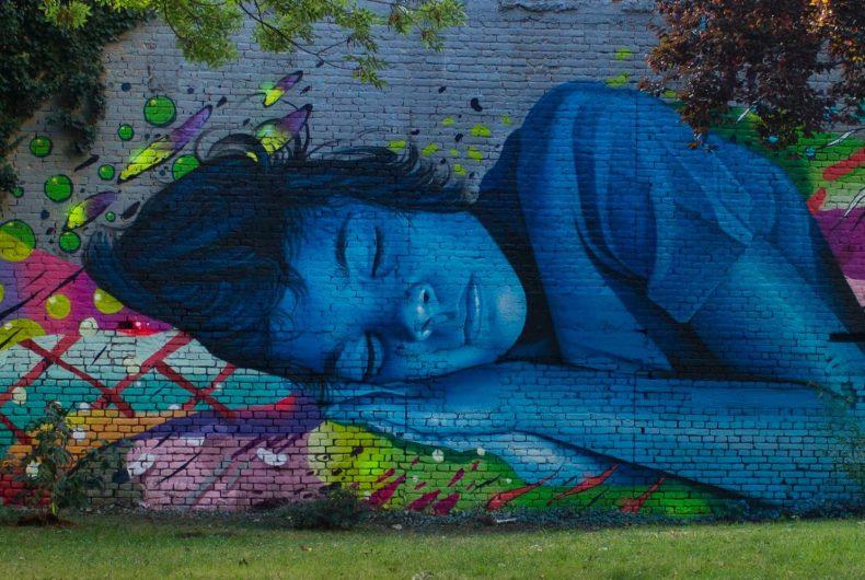 La street art iperrealista dell'artista croato Lonac