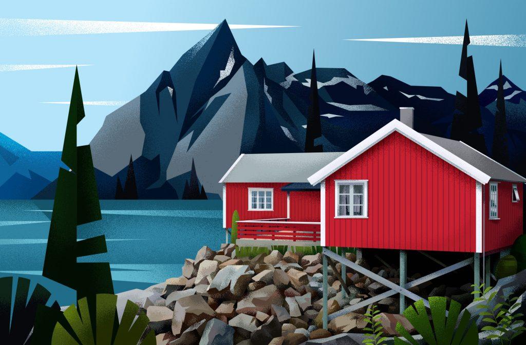 Muhammed Sajid illustra le case di tutto il mondo | Collater.al