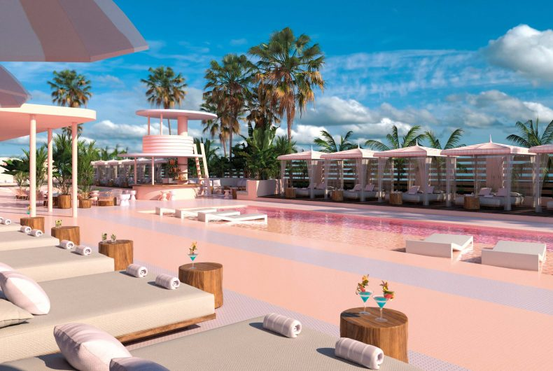 Paradiso Art Hotel, with a style between Miami and Memphis