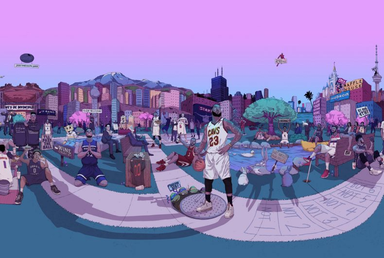 Short video for Breakfast – LeBron James a 360°, dai Lakers a Bugs Bunny