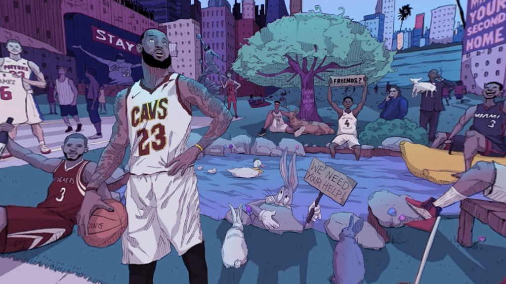 Short video for Breakfast - LeBron James a 360 | Collater.al