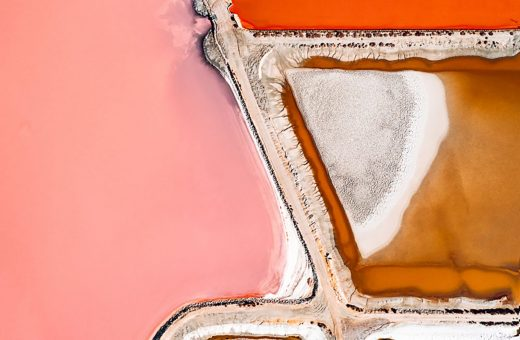 The Salt Series, the salt flats from above by Tom Hegen