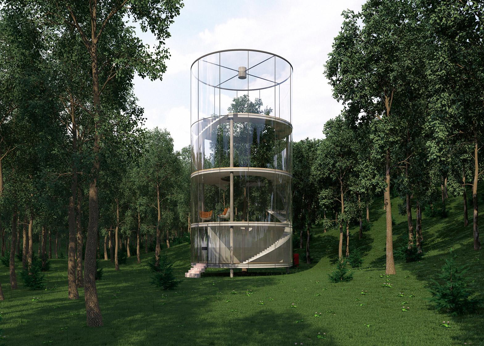 Tree in the house, una casa costruita intorno ad un albero | Collater.al 5