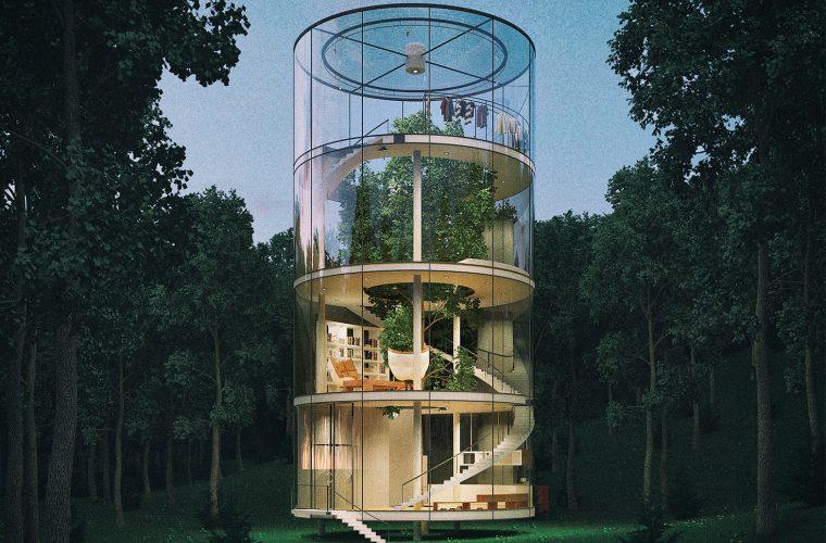 Tree in the house, una casa costruita intorno ad un albero