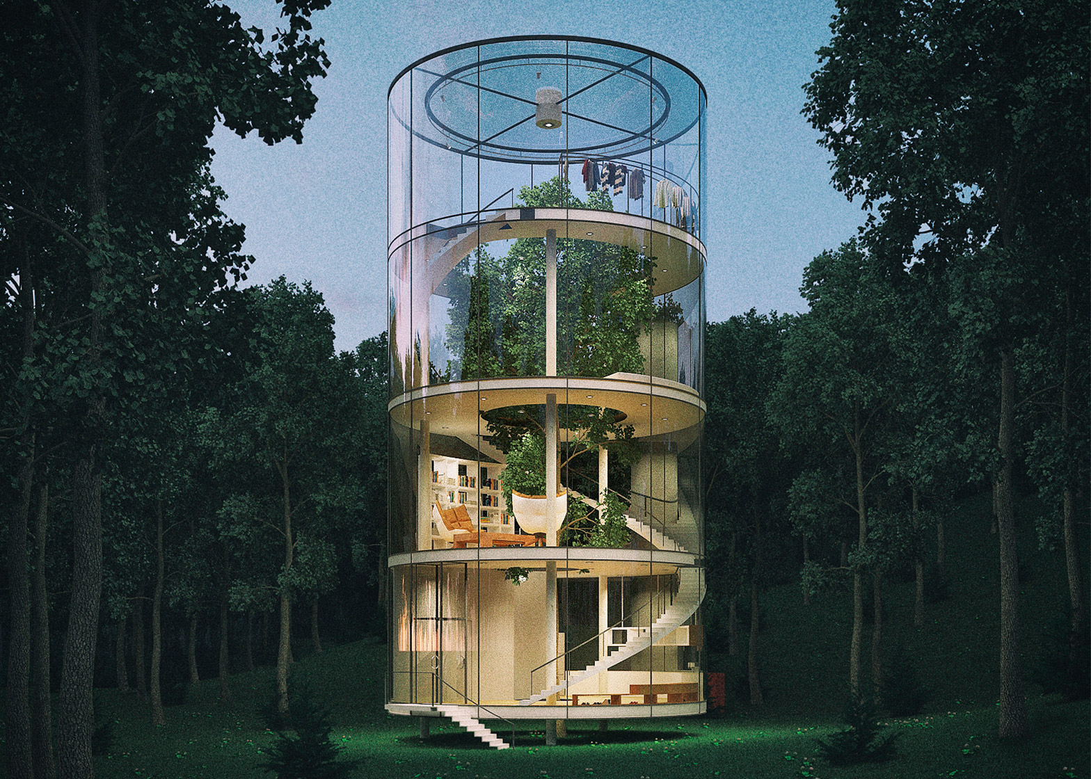 Tree in the house, una casa costruita intorno ad un albero | Collater.al