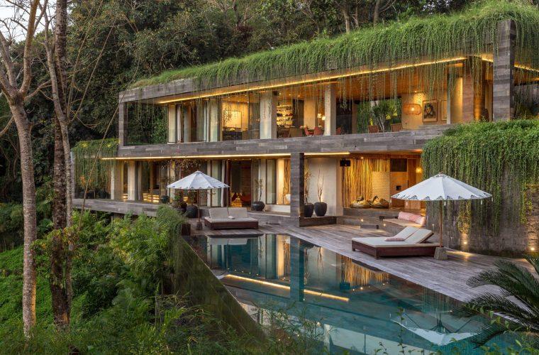 Chameleon Villa a Bali, una casa nascosta nella foresta