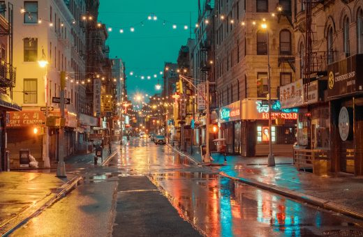 Chinatown New York, Rainy Day, Ludwig Favre's photo series
