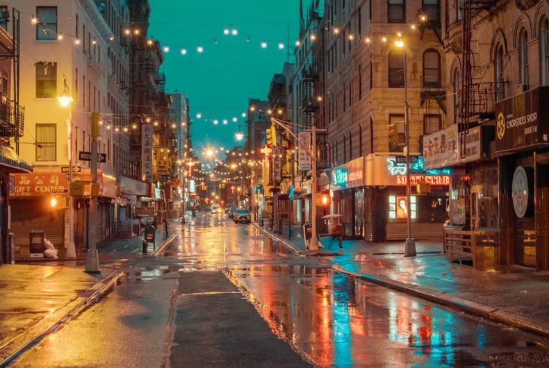 Chinatown New York, Rainy Day, Ludwig Favre's photo series