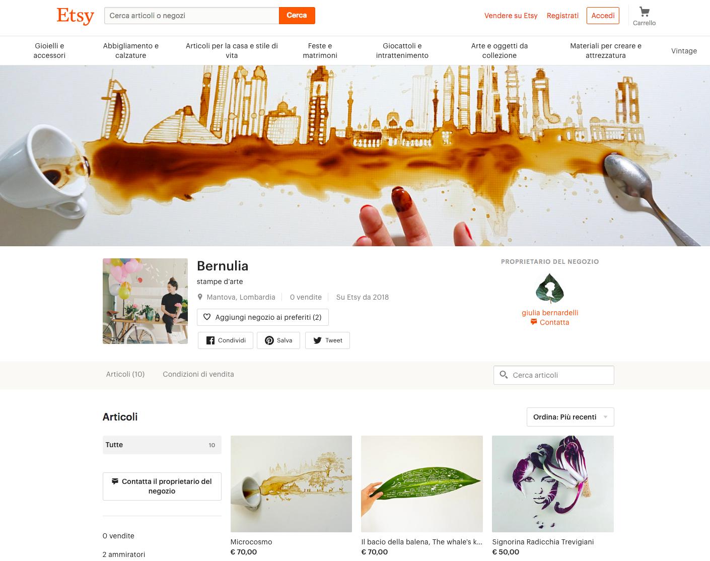 Etsy, Bernulia marketplace | Collater.al