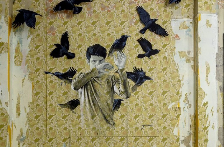 The surreal world of street art by Agrume Noir