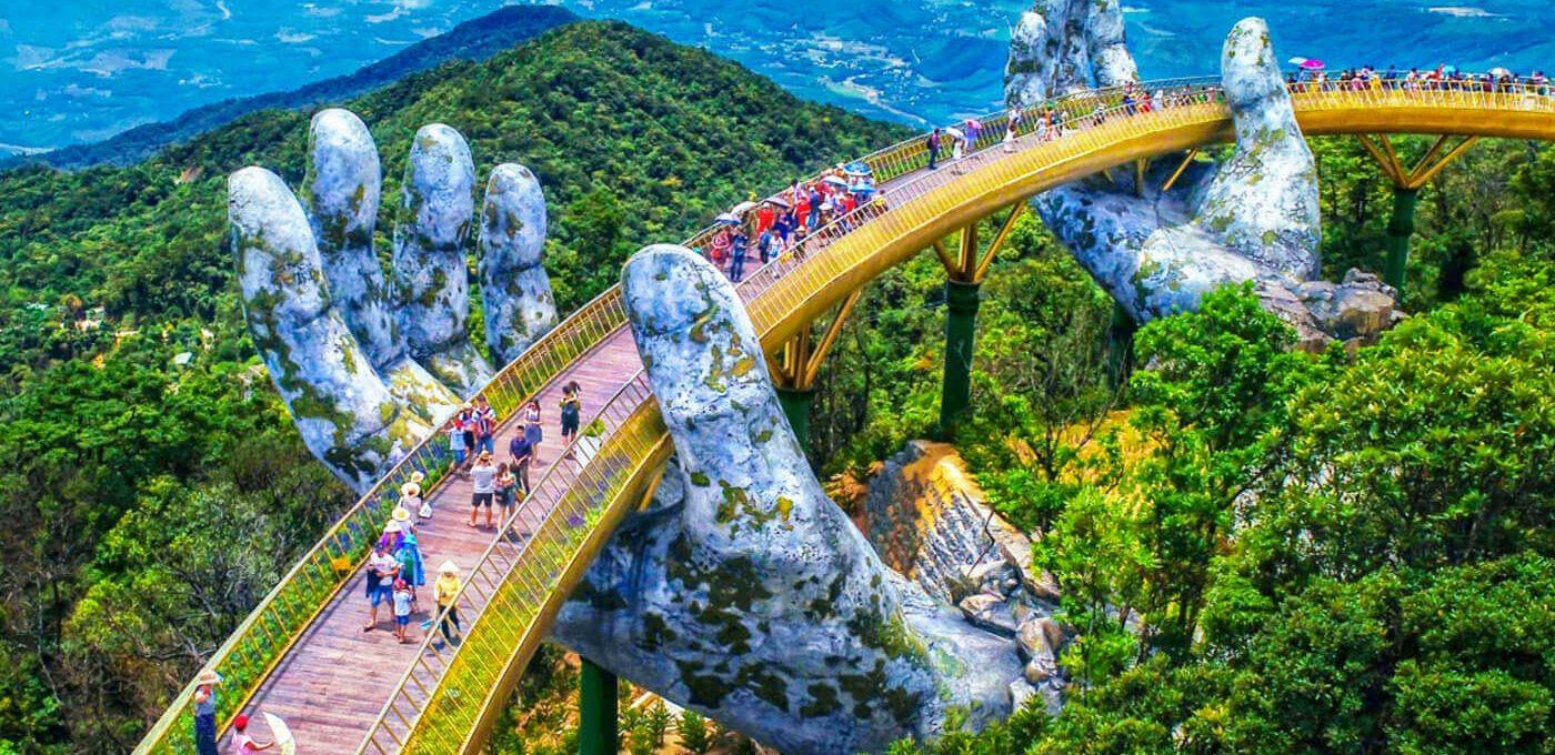 Il nuovo incredibile Golden Bridge in Vietnam