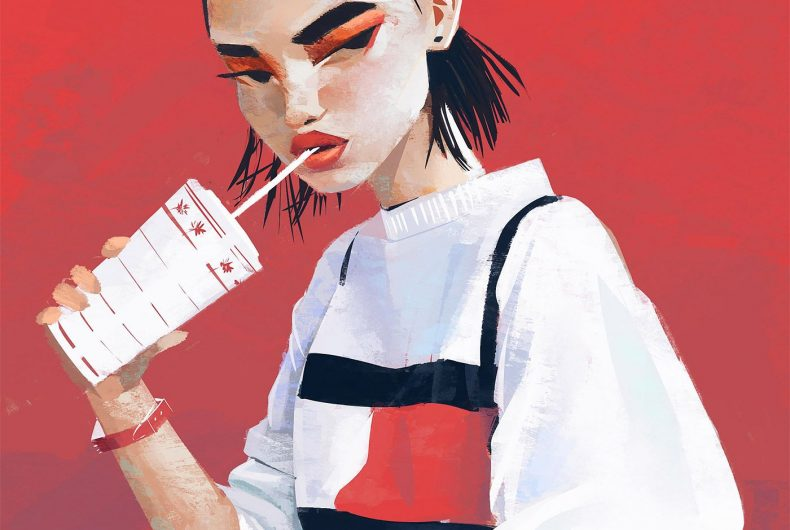 Janice Sung's fashion illustration