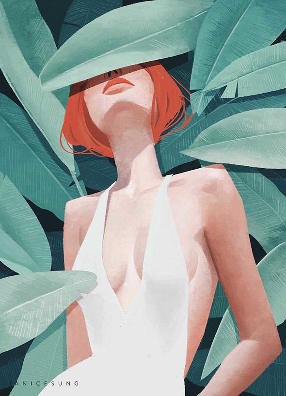 La moda secondo le illustrazioni di Janice Sung   Collater.al