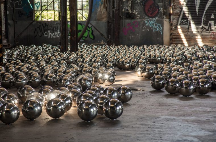 Narcissus Garden, one of the historical installations of Yayoi Kusama comes to New York